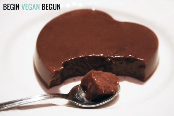 flan vegano de chocolate