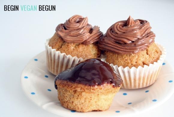 Cupcakes veganos de chocolate