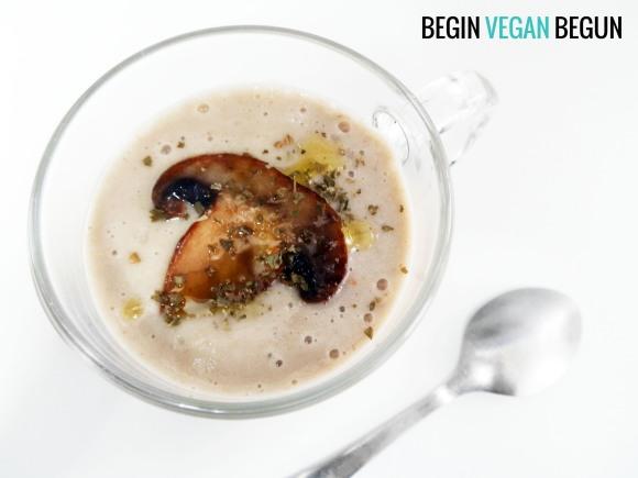 crema de champiñones vegana